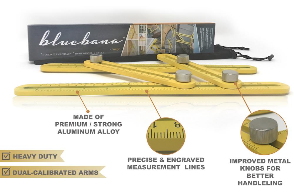 Heavy Duty Aluminum Multi Angle Measuring Ruler For Diy